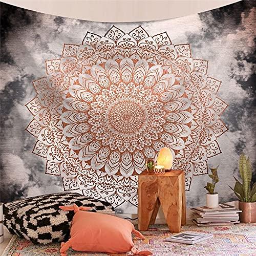 Tapiz indio hippie bohemio colgante de pared psicodélico pavo real mandala tapiz colgante de pared decoración de la habitación A19 73x95cm
