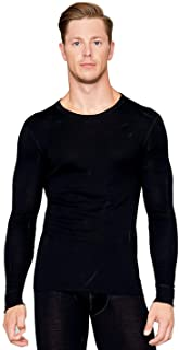 Utenos 100% Merino wol basislaag lange mouw heren shirt gemaakt in EU