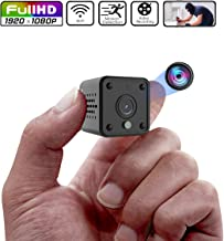 Mini Camera, Full HD 1080P Hidden Camera, Micro Spy Camera with Motion Detection and Infrared Night Vision, WiFi Remote View Wireless Nanny Cam, Compact Security Camera for Indoor and Outdoor (Black)