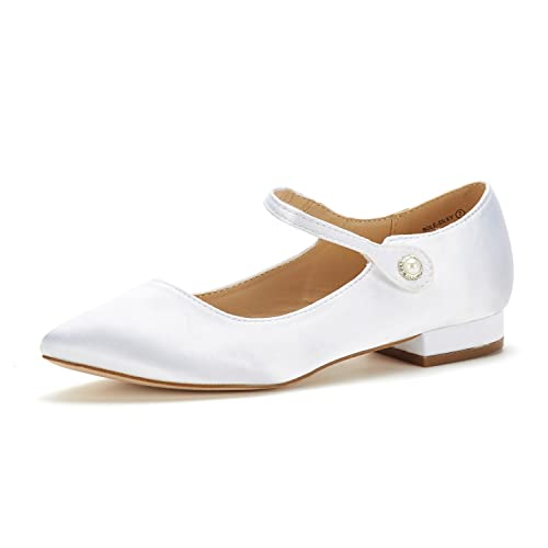 9acd6fabb5222 DREAM PAIRS Women s Ankle Straps Marry Jane Ballerina Flat Shoes