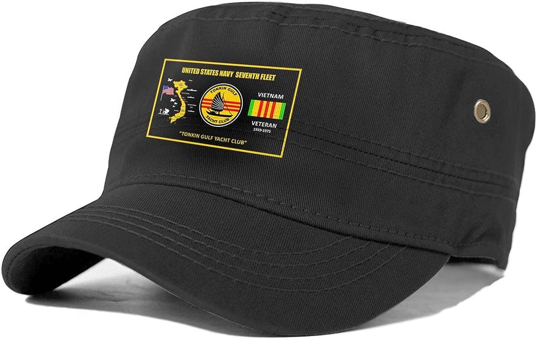 Us Navy online shopping Tonkin Gulf Yacht Club Veteran Flat Max 47% OFF Vietnam Unisex Adult