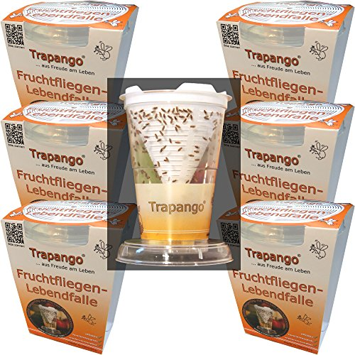MACUR 6X Fruchtfliegen-Lebendfalle Trapango®, (6er-Pack)