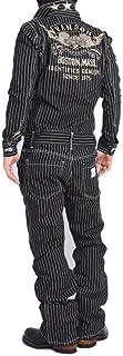 【当店別注】 (バンソン) VANSON ツナギ つなぎ フライングエンブレム 総刺繍 デニム オールインワン JFV-601-WABASH