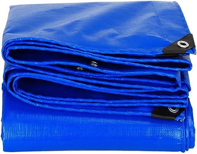 DLewiee Tente Bleue de Tente de bache extérieure imperméable imperméable de bache de Camping
