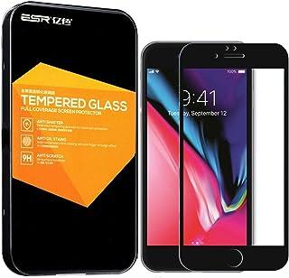 واقي شاشة مصنوع من الزجاج المقوى لتغطية كاملة لهاتف Apple iPhone 8 Plus/iPhone 7 Plus (5. 5 بوصات) ESR 3D Soft Edge 272456...