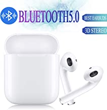 Bluetooth Headsets Wireless Earbuds Bluetooth 5.0 Headphones with Microphone,Noise Cancelling 3D Stereo,IPX5 Waterproof Cordless Sport Headsets.in-Ear Headphones For Apple Airpods Android/iphone