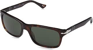 Persol PO3048S Sunglasses-24/31 Havana (Crystal Green Lens)-55mm