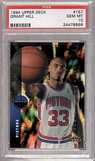 1994 Upper Deck HOF Rookie #157 Grant Hill RC Detroit Pistons PSA 10 1289