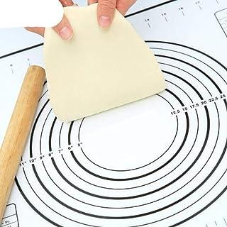 Tapis de cuisson anti-adhésif 26/60 cm - Résistant à la chaleur - Noir - 60 x 60 cm