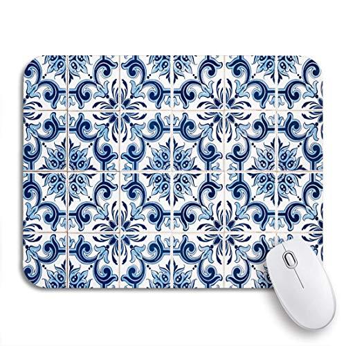 Mausemat Vintage Nahaufnahme Detail Der Alten Portugiesischen Glasierten Fliesen Muster 2 Größen Spiel Rutschfeste Gummiunterlage Diy Bunte Mousepad Notebooks Computer Maus Matten 25X30cm