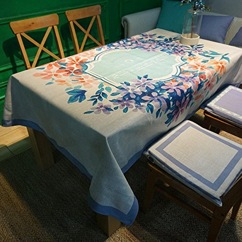 ventas en linea RUGAI-UE Mantel de tela gruesa gruesa gruesa púrpuraa Retro Casa jardín rectangular de tela azul púrpura té,púrpuraa,226140cm.  nuevo sádico