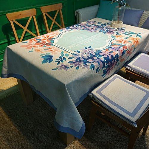 muchas concesiones RUGAI-UE Mantel de de de tela gruesa púrpuraa Retro Casa jardín rectangular de tela azul púrpura té,púrpuraa,140140cm.  para mayoristas