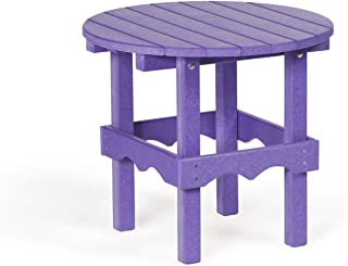 Leisure Lawns Recycled Plastic Round Side Table (Purple)