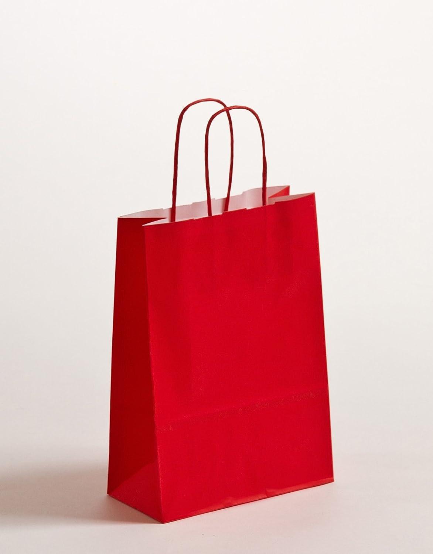 Geschenktaschen Papiertragetüten Rot 18 x 8 x x x 20cm VE 300 Stück B0744GPP4V   Langfristiger Ruf  e362b0