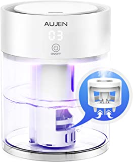 Aujen Humidifier with Night Light, 3L Cool Mist Humidifier for Bedroom, Ultrasonic Humidifier for Large Room, Quiet Humidi...