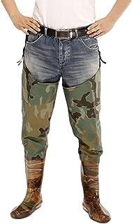 comprar comparacion Xinwcang Pantalón de Pesca para Hombre Impermeable Ligeros,Transpirables, Botas Altas Antideslizante Waders Pesca