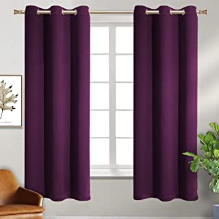 BGment Blackout Curtains - Grommet Thermal Insulated Room Darkening Bedroom and Living Room Curtain, Set of 2 Panels (42 x 63 Inch, Royal Purple)