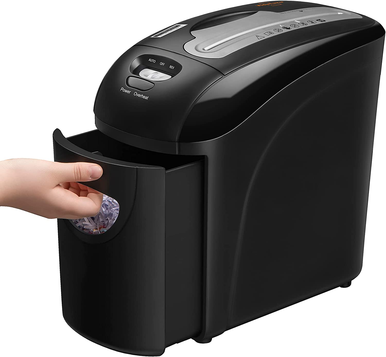 Small Shredder for Home, VidaTeco 10-Sheet Micro Cut Shredder with US Patented Cutter,Higher Security P-4,Card/Paper Shredder for Home Office Use with Jam Proof System,2.65-Gallon Pull Out Basket(ETL)
