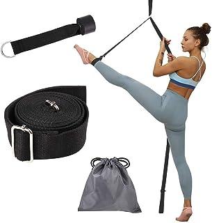la Danse et Le Pilates la Gymnastique Outil d/étirement pour la physioth/érapie du Yoga PROTAURI Yoga Stretch Strap for Physical la Musculation Elastic Stretching Strap Band