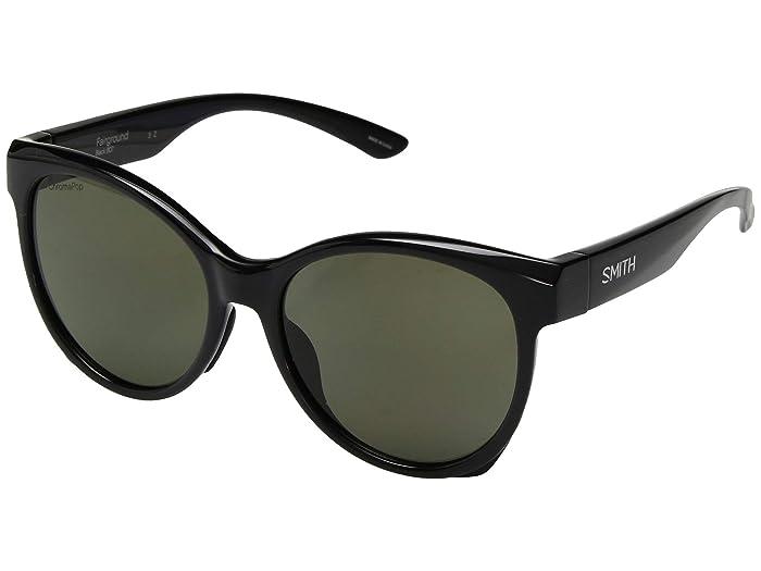 Fairground (Black/ChromaPop Polarized Gray Green Lens) Athletic Performance Sport Sunglasses