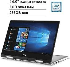 Dell 2019 Newest Inspiron 5000 14 Inch FHD 1080P 2-in-1 Touchscreen Laptop, 8th Gen Intel 4-Core i7-8565U up to 4.6 GHz, Intel UHD 620, 8GB DDR4 RAM, 256GB SSD, Backlit KB, HDMI, Windows 10 (Renewed)