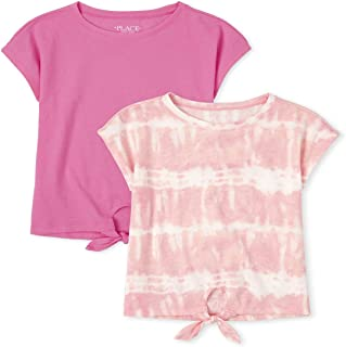 The Children's Place Girls' Layering T-Shirts, Pack of Two