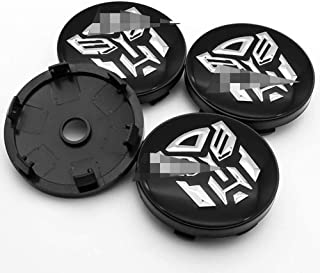 4Pcs Car Hub Center Cover, Aluminum Trim Badge Dust Tuning Covers 3D Emblems Alloy Wheel Centre Caps Transformers 60MM Uni...