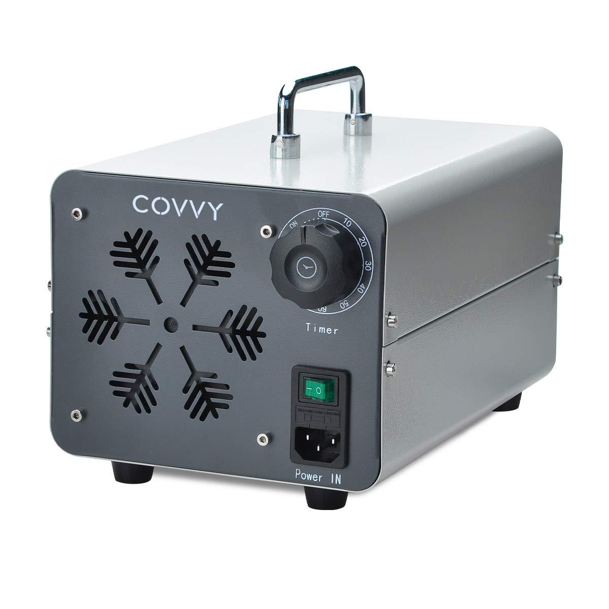 COVVY Generador de ozono comercial, máquina móvil industrial del ozono O3 purificador de aire ambientador esterilizador para la eliminación de olores, para casa, oficina, hotel, coche: Amazon.es: Bricolaje y herramientas