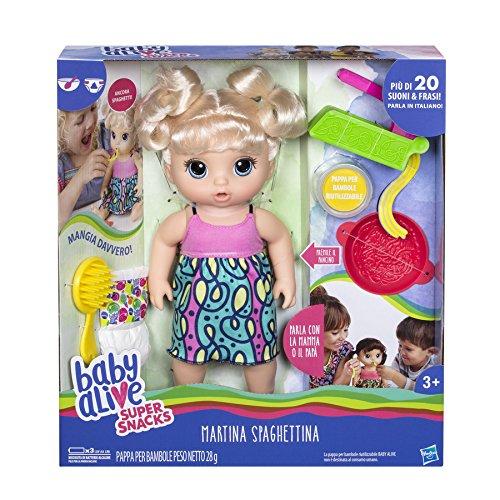 Hasbro Baby Alive- Martina Spaghettina (Bionda), C0963103