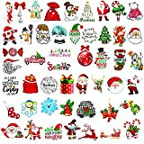 Kiddale 50pcs Merry Christmas Vinyl Waterproof Stickers Christmas Decoration Decals for Kids Gift Stickers for Laptop Water Bottle Party Favors Graffiti Patches