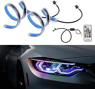 چراغ جلو اتومبیل SS VISION چراغ نوار لوله ای نوار - RGB چند رنگ چراغ راهنمای روشنایی در طول روز با کنترل از راه دور ، چراغ تزئینی ضد آب ضد آب کهربا سفید
