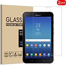 [2 Pack] Samsung Galaxy Tab Active 2 Screen Protector, KATIAN HD Clear Protector [Anti-Scratch] [Anti-Fingerprint] [No-Bubble] [Case-Friendly], 9H Tempered Glass Screen Film Galaxy Tab Active 2