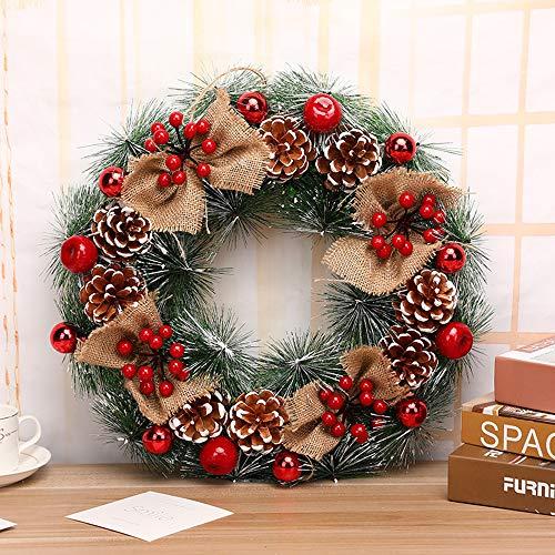 ZXPAG Kerstkransen voor voordeur kerstkrans winter krans PVC ideale winter decoratie voor binnen en buiten gebruik - mix voyeur Geslacht
