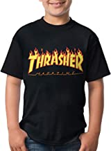 Reneealsip Thrasher Magazine Youth Kids Raglan Jersey Short Sleeve Baseball T Shirts
