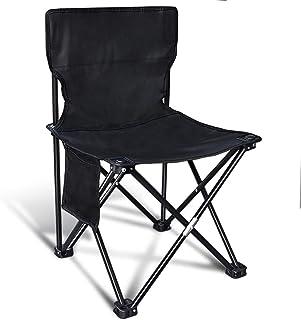 Silla portátil de acampada, ligera con respaldo completo, f