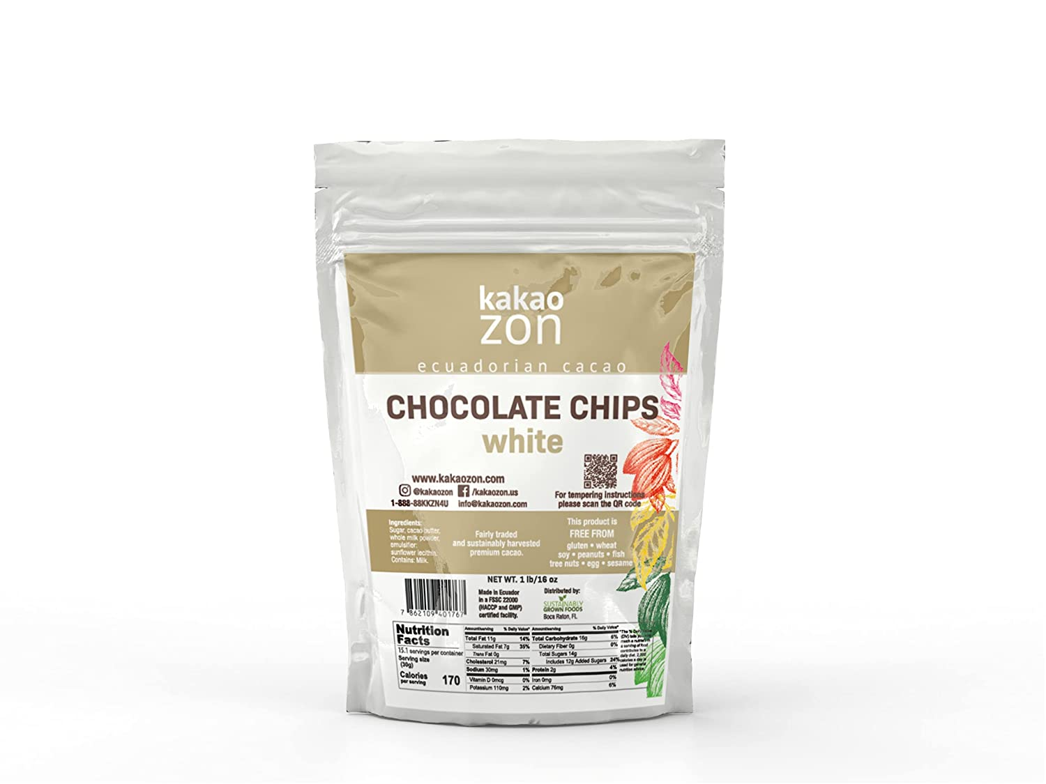 KakaoZon Selling rankings White Chocolate Mail order cheap Chips Coverture Glut