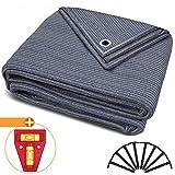 smartpeas Tappeto da Campeggio 300x400cm - Blu/Grigio - Altamente Robusto e Lavabile (HDPE)