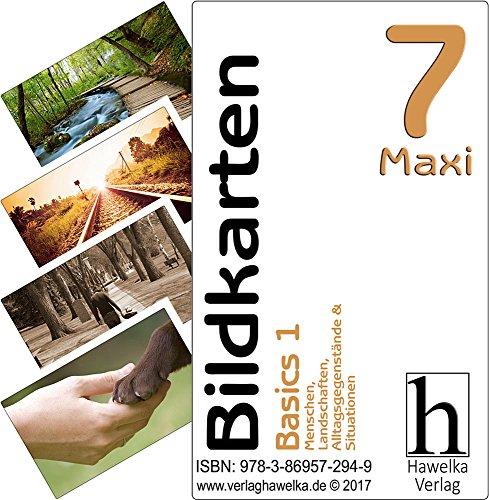 Bildkarten 7 -Maxi- Basics 1 - (Fotokarten in Postkartengröße / etwas schmaler) - ideal in der Biografiearbeit, Sprachförderung, Pädagogik, Therapie, Altenpflege, Geriatrie und Heimbetreuung