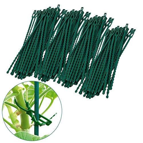 Attaches multi-usages réutilisable en plastique réglage pour les plantes (200)