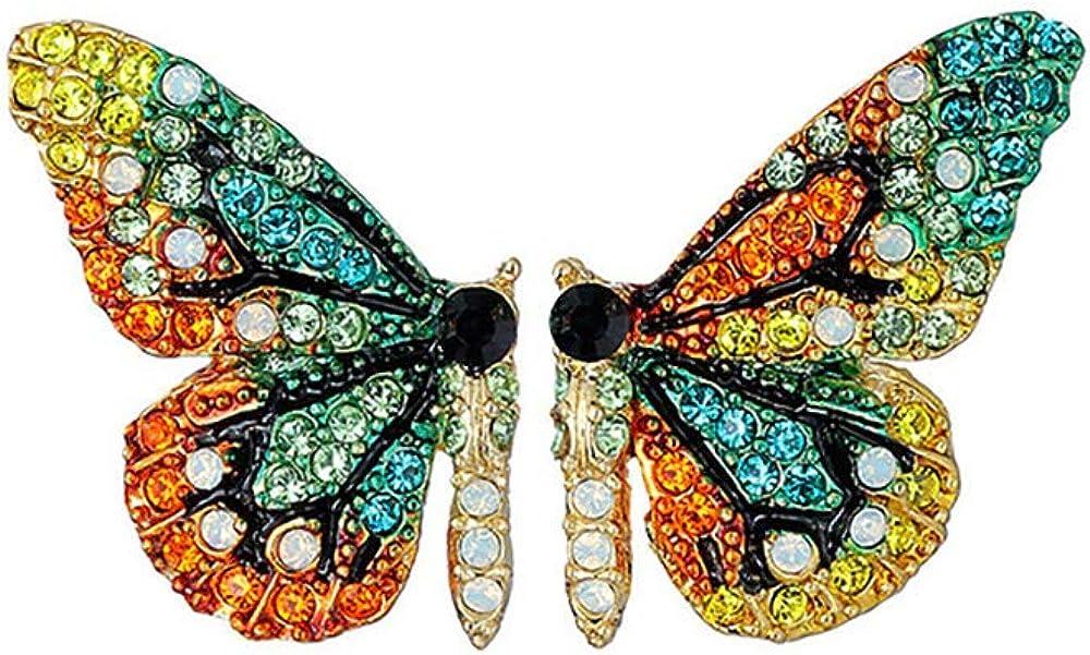 Pendientes de Diseño Mariposas con esmalte de colores y brillantes para mujeres alegres para regalos divertidos, originales y románticos