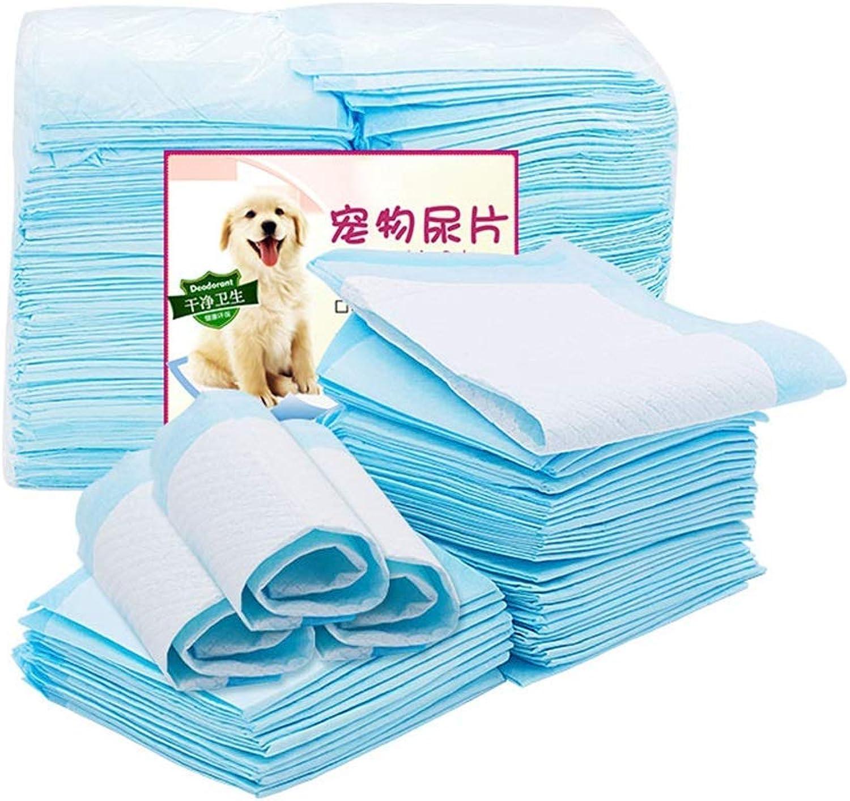 Pet Training Pee Pads Dog Urinal Pad Fluff Pulp Material Super Absorbent Thickening Deodorant Leak Predection Urinal Pad Diaper, Pet Supplies, bluee(S100pcs 3345cm, M50pcs 4560cm,XL20pcs 60