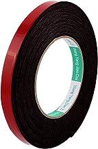 DealMux zwart sterk dubbelzijdig plakband spons tape 12MM breedte 5M lang