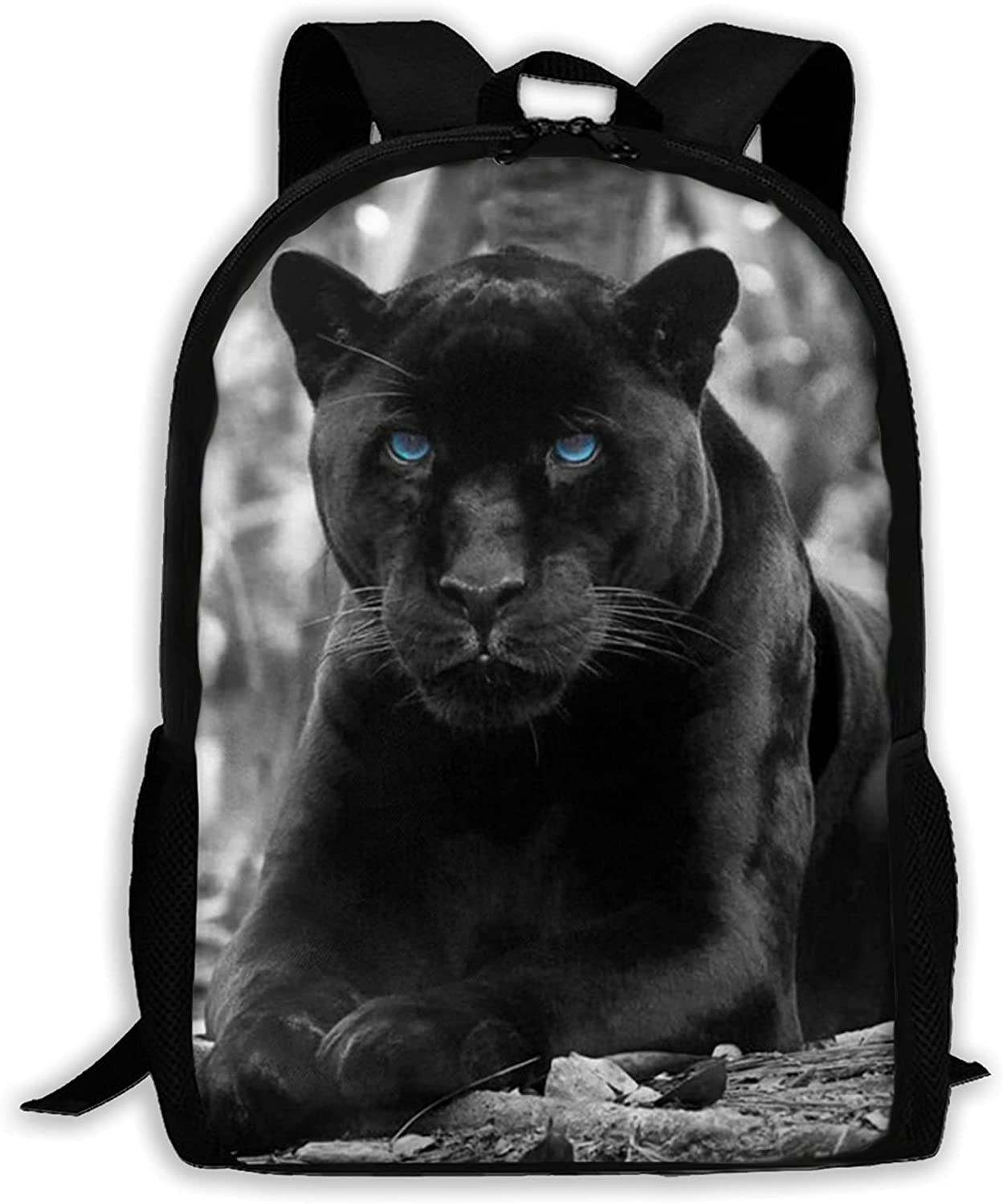 Leopard With Blue Eyes Sales for sale Printed Backpack And Girls Max 58% OFF Teen Lapt Boys