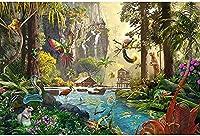 300ピース木製パズル大人の子夏の風景農場の風景牧歌的な風景家族のゲーム誕生日プレゼントサプライズギフトハロウィーンギフトクリスマスギフト女の子へのギフトF0v8s15