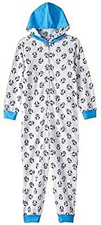 TY Beanie Boo Big Girls' Waddles The Penguin Beanie Boo Footless Fleece Onesie Pajama, White, 4/5