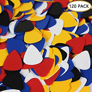 120Pcs Guitar Picks Assorted Colors Different Sizes Light/Thin Medium Heavy Thick Plain Plectrum for Acoustic Guitar Elect...