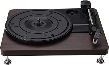 $189 » guizhoujiufu Radio Speaker Home Speakers Wood Color Record Retro Player 33RPM Portable Audio Gramophone Turntable Disc Vin...