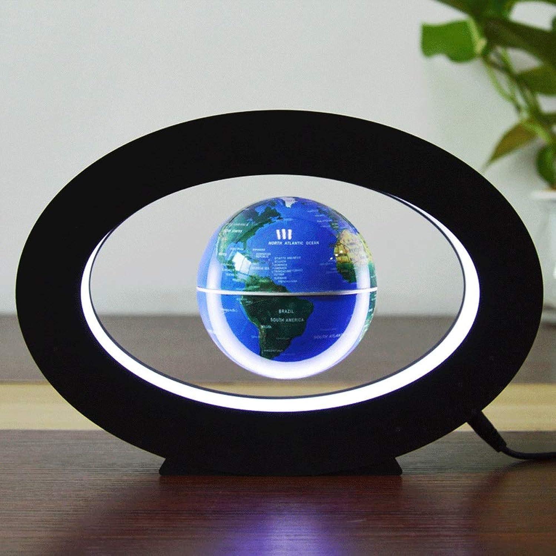 XAJGW Elektronisches schwebendes Kugel-Neuheit-elektronisches rundes Schwebungs-Tellurion mit LED-Licht-Hauptbüro-Anzeige (Farbe   Blau)