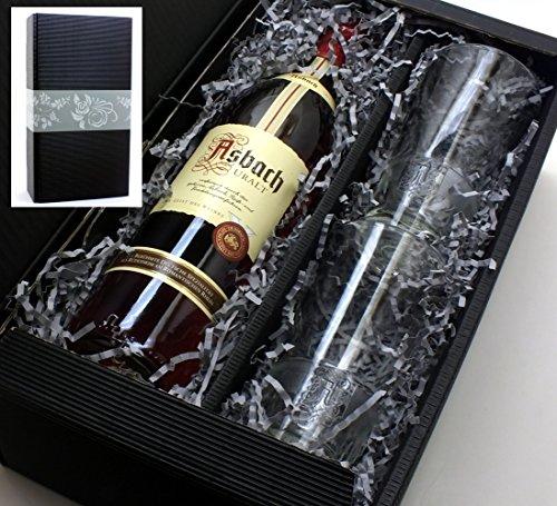 Asbach Uralt Weinbrand 0,7l 38% Set mit 2 Longdrink Gläsern in Geschenkkarton