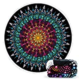 Ricdecor Beach Towel Large Mandala Beach Towel Blanket with Tassels Ultra Soft Super Water Absorbent Multi-Purpose Beach Throw 59 inch Across (NO.33)